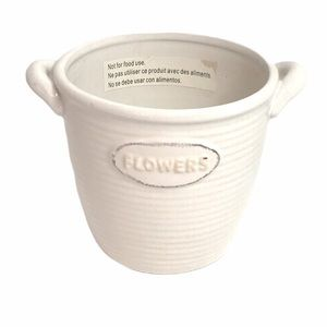 Ashland Decorative Flower Pot, Cream